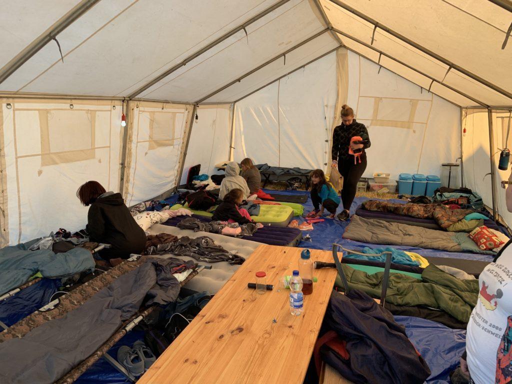 Chaos im eiskalten Zelt